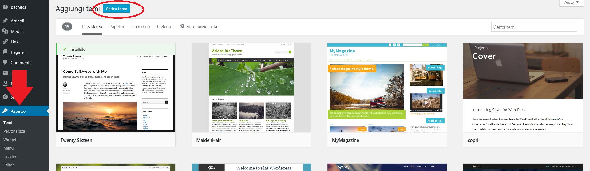 caricare-un-tema-wordpress-come-aprire-un-blog