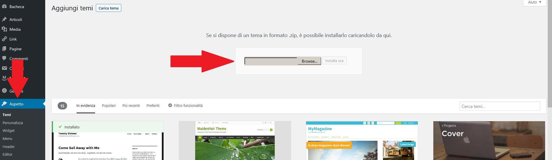 caricare-un-tema-wordpress-in-formato-zip-come-aprire-un-blog