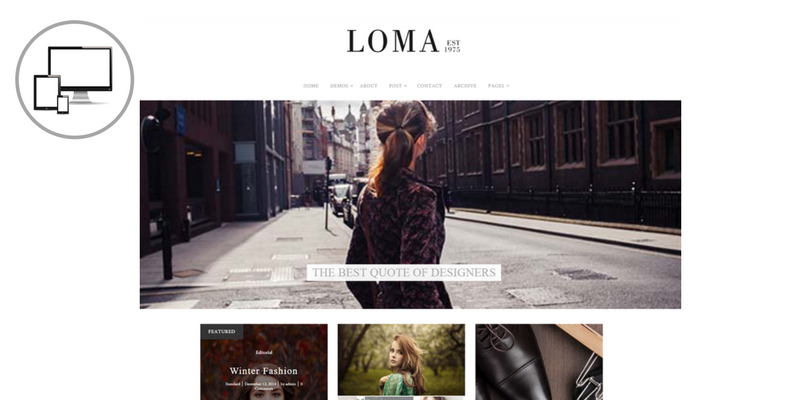 tema premium loma per blog di moda, come creare un blog di moda, quale tema scegliere per un blog di moda