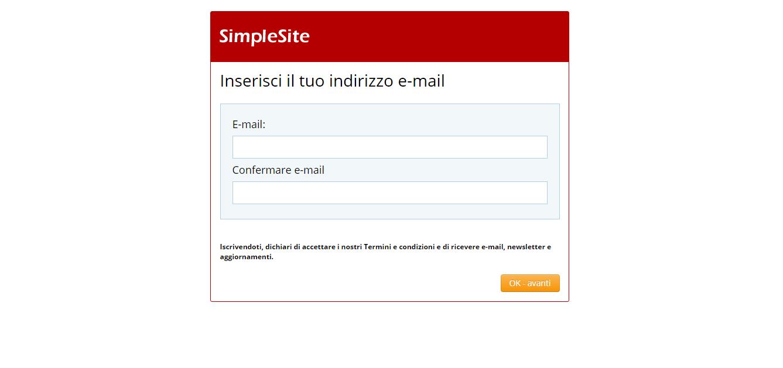 come si crea un blog gratis, inserisci una email per creare il tuo blog gratuito, tutorial