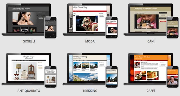 creare un blog gratis, design per sito gratuito
