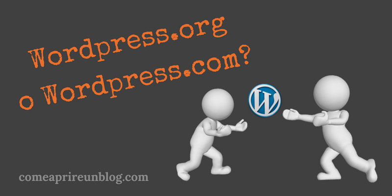 wordpress.org o wordpress.com, come aprire un blog