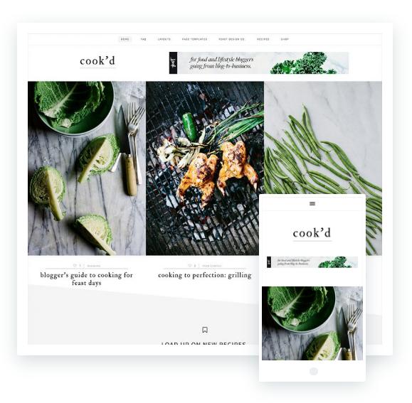 aprire un blog di cucina, tema premium