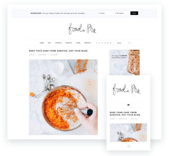 come aprire un blog di cucina, tema premium