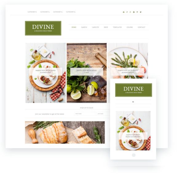 creare un blog di cucina, tema premium